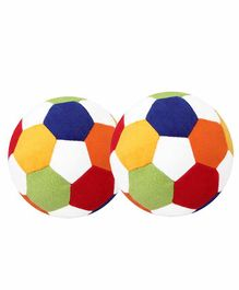 O Teddy Stuffed Plush Soft Ball Pack of 2 - Multicolor