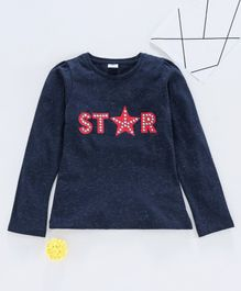 Smarty Full Sleeves Tee Star Print - Navy