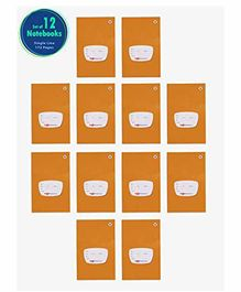 Target Publications Single Line Notebook Pack of 12 - 172 Pages Each