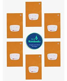Target Publications Single Line Notebook Pack of 6 - 76 Pages Each