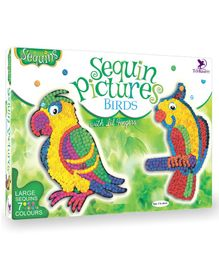Toy Kraft Birds Sequin Pictures - Multicolor