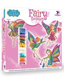 Toy Kraft  Sand and Sequins Fairy Fantasies Activity Kit - Pink
