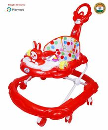 Playhood Baby Walker with Parental Push Handle - Red