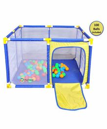 Playhood Jumbo Ball Pool with 100 Colorful Balls - Multicolor