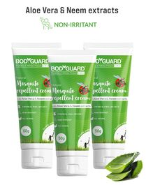 Bodyguard  Natural Mosquito Repellent Cream with Aloe Vera and Neem Extracts Pack of 3 - 50 gm Each