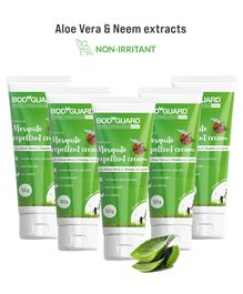 BodyGuard Natural Mosquito Repellent Cream with Aloe Vera and Neem Extracts Pack of 5 - 50 gm Each
