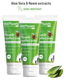 BodyGuard Natural Mosquito Repellent Cream with Aloe Vera and Neem Extracts Pack of 3 - 100 gm Each