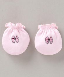 Ben Benny Mittens   Bow Patch - Pink