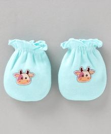 Ben Benny Mittens  Cow Patch - Blue