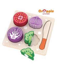 Orapple By R For Rabbit Wooden Vegetable Slicer - Multicolor