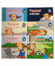 Sterling Learn With Pepper Books Set 3 Pack of 6 - English