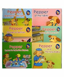Sterling Learn With Pepper Books Set 4 Pack of 6 - English