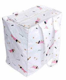 The White Cradle Diaper Bag Doodle Print - Pink