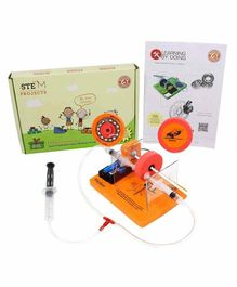 Butterflyfields STEM Toy Battery Operated Hydraulic Brake System Kit - Multicolour