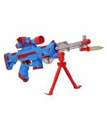Fiddlerz Letest Musical Phantom Toy Gun with Knife - (Color May Vary)