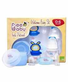 Beebaby Welcome Baby Set Pack of 4 - White Blue