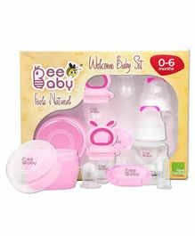 Beebaby Welcome Baby Set Pack of 4 - White Pink