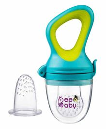 Beebaby Fresh Food Silicone Nibbler- Green Blue