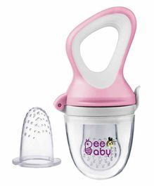Beebaby Fresh Food Silicone Nibbler - Pink White
