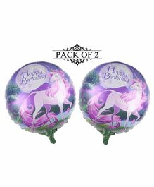 Amfin Happy Birthday Foil Balloons Purple - Pack of 2