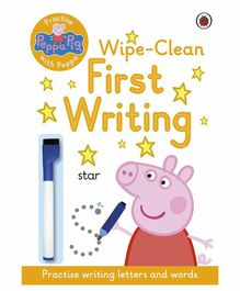 Penguin UK Peppa Pig Practise with Peppa Wipe Clean First Writing Book - English