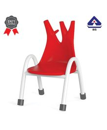OK Play Trunk Chair Red- Height 8 Inches