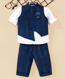 Robo Fry 3 Piece Check Party Suit - Blue White