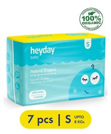 Heyday Natural & Organic Small Baby Diapers - 7 Pieces