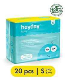 Heyday Natural & Organic Small Baby Diapers - 20 Pieces