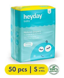 Heyday Natural & Organic Small Baby Diapers - 50 Pieces
