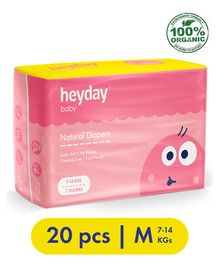 Heyday Natural & Organic Medium Baby Diapers - 20 Pieces