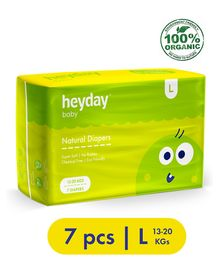 Heyday Natural & Organic Large Baby Diapers - 7 Pieces