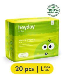 Heyday Natural & Organic Large Baby Diapers - 20 Pieces