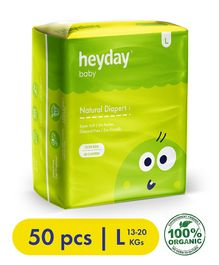 Heyday Natural & Organic Large Baby Diapers - 50 Pieces