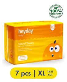 Heyday Natural & Organic Extra Large Baby Diapers - 7 Diapers