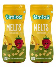 Timios Banana & Strawberry Flavored Melts Pack of 2 - 50 gm each