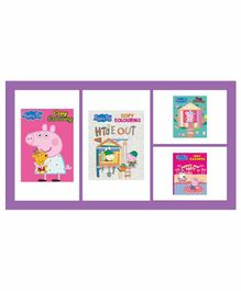 Peppa Pig Colouring Books Set of 4 - English