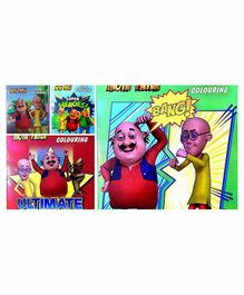Motu Patlu Colouring Books Set of 4 - English