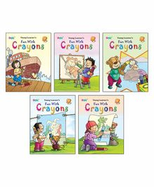 Young Learner Publication Fun With Crayons Colouring Book Pack of 5 - English