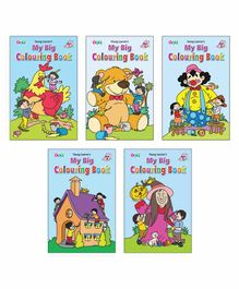 Young Learner Publication Big Colouring Books Pack of 5 - English