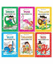 Young Learner Publication Colouring Pad Books Pack of 6 - English