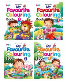 Young Learner Publication My Favourite Colouring Books Pack of 4 - English
