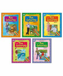 Young Learner Publication Fun Colouring Books Pack of 5 - English