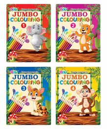 Young Learner's Publication Jumbo Colouring Books Set of 4 - English