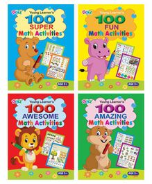 Young Learner's Publication Math Activity books Set of 4 - English