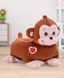 Babyhug Monkey Shaped Soft Seat - Brown