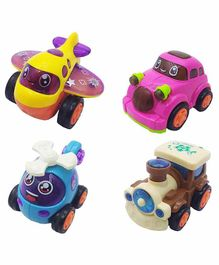 VWorld Friction Toy Vehicles Set of 4 - Multicolour