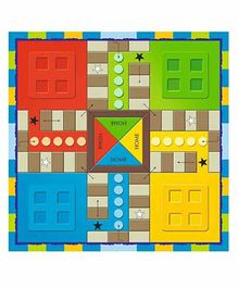 VWorld 2 in 1 Ludo Plus Snakes & Ladder Board Game - Multicolour