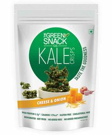 The Green Snack Co. Kale Crisps Cheese & Onion - 30 gm