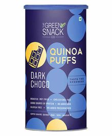The Green Snack Co. Quinoa Puffs Dark Choco Canister - 150 gm